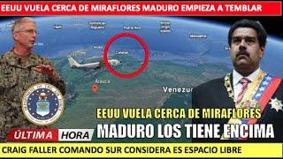 Fuerzas de EEUU vuelan cerca de Miraflores Maduro tiembla