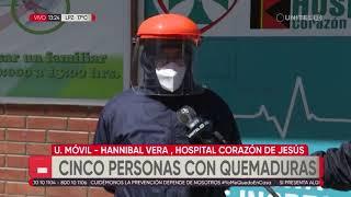 Cinco personas afectadas tras una fuga de gas en una vivienda en El Alto