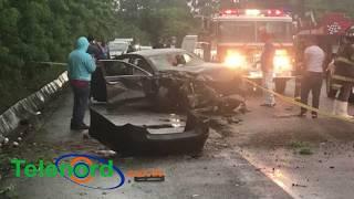 Fallece un hombre en aparatoso accidente de tránsito en la carretera SFM-Tenares