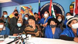 Conferencia de prensa Evo morales junto a Juan Carlos Leon candidato a la gobernación de Chuquisaca