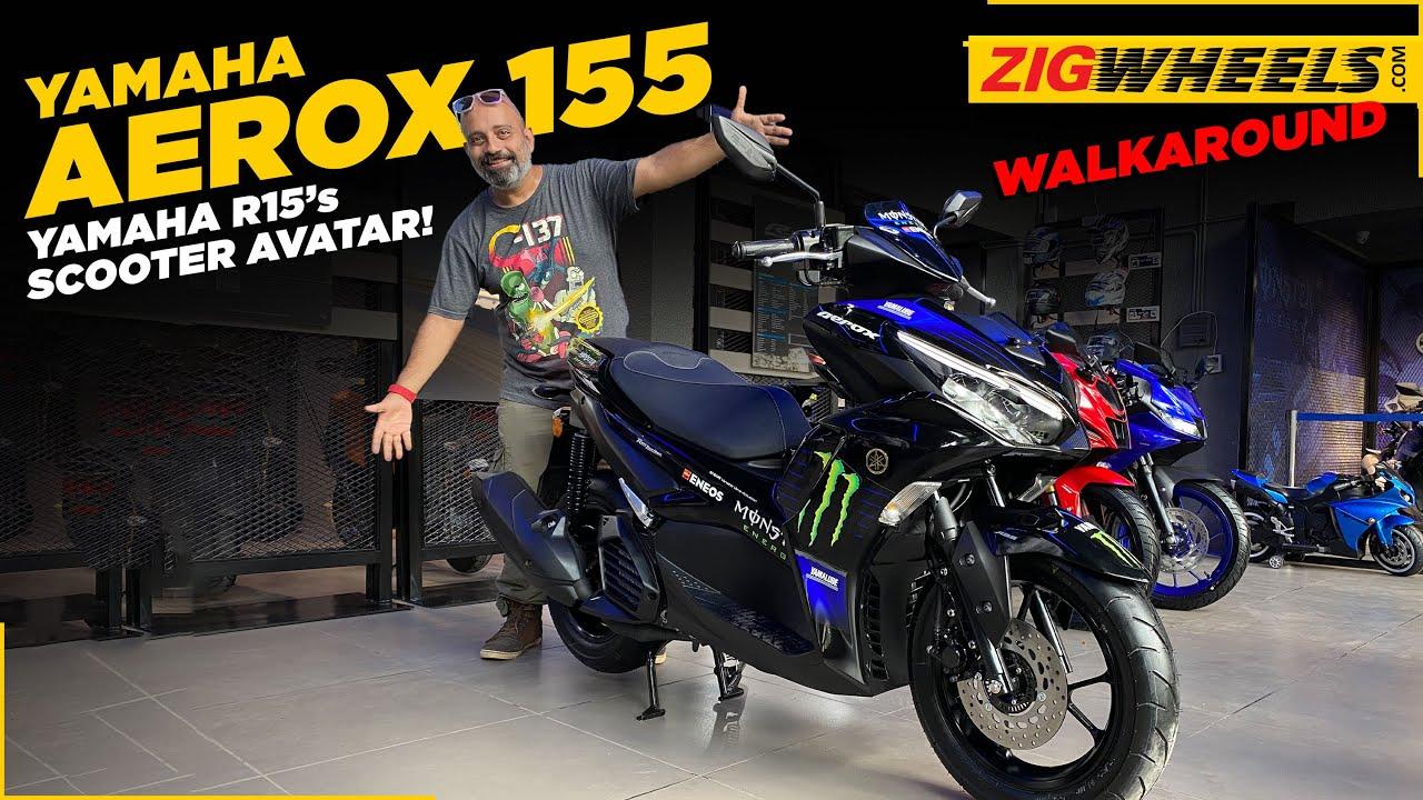 Yamaha Aerox 155 Walkaround Video | India's Fastest Scooter