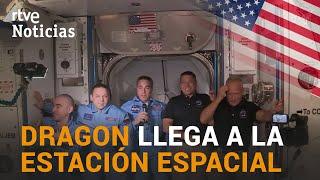 La cápsula DRAGON, de la SPACEX, llega con éxito a la ESTACIÓN ESPACIAL INTERNACIONAL