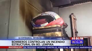 Se reporta incendio en una vivienda en el barrio Lempira, La Esperanza, Intibucá