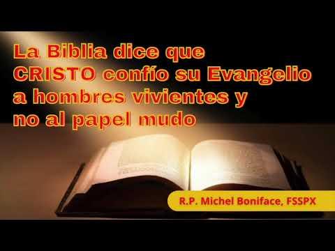 La Biblia dice que CRISTO confió su Evangelio a hombres vivientes y no al papel mudo