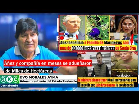 Evo Morales: Toda las tierras que Áñez adjudico se revertirá - Ex ministro planeo traer mercenarios