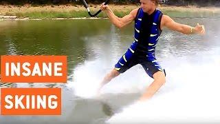 Insane Barefoot Water Skiing Freestyle   Walking on Water