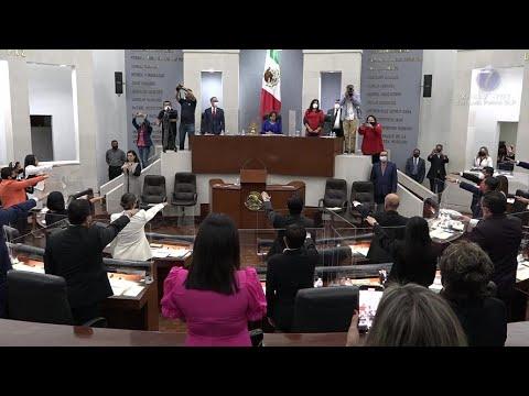 Yolanda Cepeda y José Luis Fernández a la Directiva y JUCOPO en el Congreso del Estado.