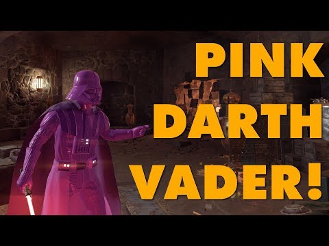connectYoutube - Pink Darth Vader Modded Into Battlefront II Because EA Said Nobody Wants Pink Darth Vader