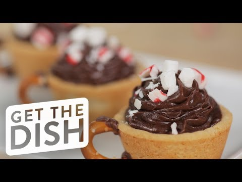 connectYoutube - Peppermint Hot Chocolate Cookie Dessert Cups | Get the Dish