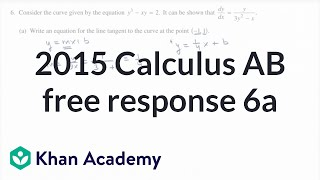 2015 AP Calculus AB 6a