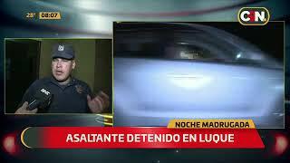 Asaltante detenido en Luque
