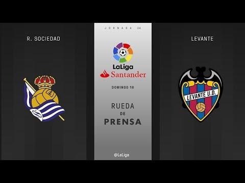 Rueda de prensa R. Sociedad vs Levante