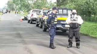 Un policía de tránsito falleció este domingo tras chocar contra un vehículo