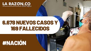 COVID-19 en Colombia: 6.678 nuevos casos y 169 fallecidos