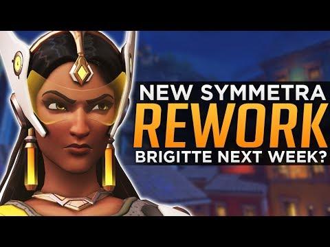 connectYoutube - Overwatch: NEW Symmetra Re-Work! - Brigitte Release NEXT WEEK!?
