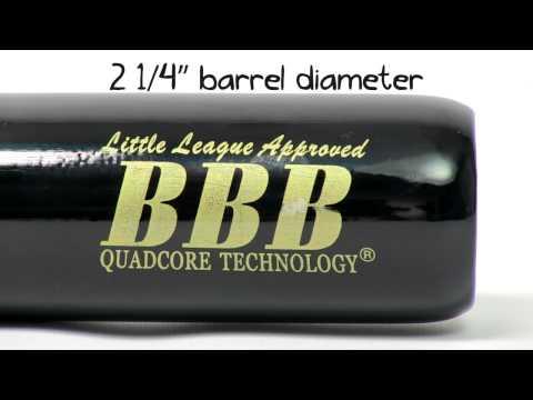 BamBooBat Bamboo Wood Bat: HNBBY Natural/Black Youth With FREE Triad Titanium Necklace