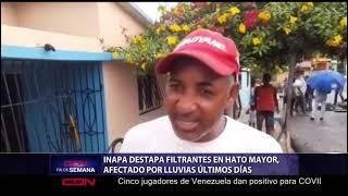 INAPA destapa filtrantes afectados por lluvias en Hato Mayor
