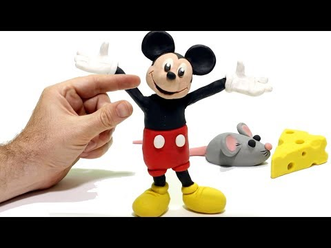 connectYoutube - Mickey Mouse & Superhero Play Doh Cartoons  Stop Motion for kids