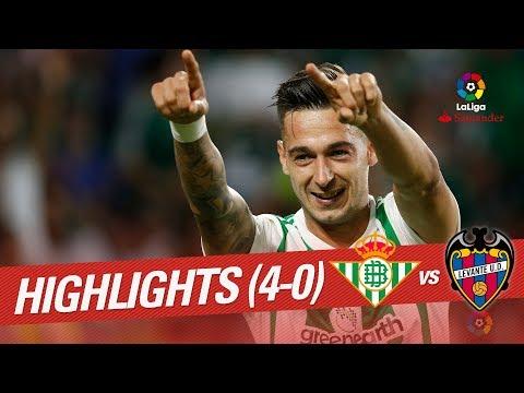 Resumen de Real Betis vs Levante UD (4-0)