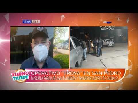 Desbaratan a banda de asaltantes de transportes de caudales en San Pedro