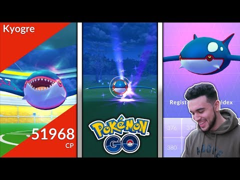 connectYoutube - *FIRST EVER* LEGENDARY KYOGRE RAID IN POKEMON GO! NEW LEGENDARY POKEMON KYOGRE CAUGHT?!