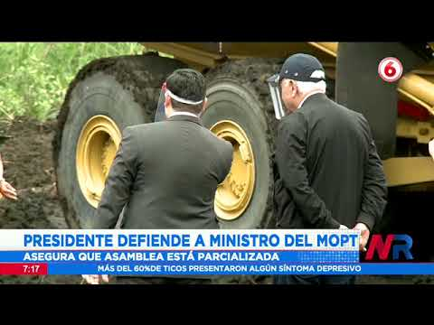 Presidente Alvarado defiende al ministro del MOPT pese a los señalamientos en su contra
