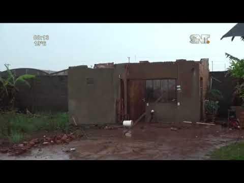 Fuerte temporal destechó viviendas y dejó un herido en Minga Guazú