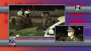 07 JUN 2021 Sujeto volcó su vehículo al intentar huir de Carabineros en Control policial