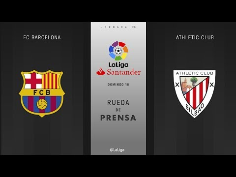 Rueda de prensa FC Barcelona vs Athletic Club