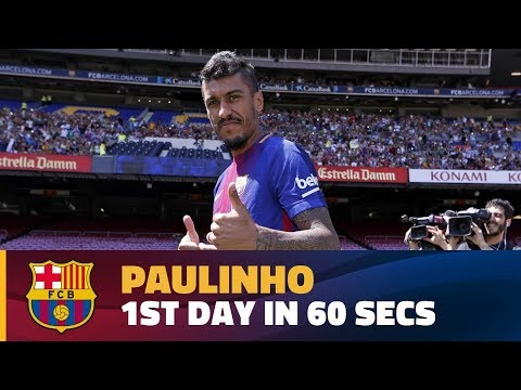 "Paulinho's first day in Barcelona in 60"""