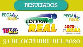 Lotería Real  Resultados de hoy 31 de Octubre