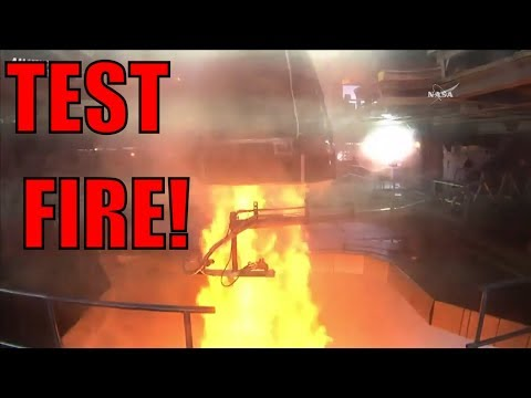 NASA Test Fires the RS-25 Engine - SLS
