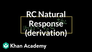 RC natural response part 2 of 3 derivation