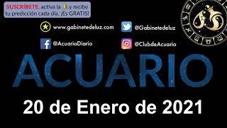 Horóscopo Diario - Acuario - 20 de Enero de 2021.