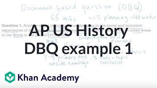 AP US history DBQ example 1