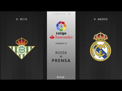 Rueda de prensa R. Betis ve R. Madrid