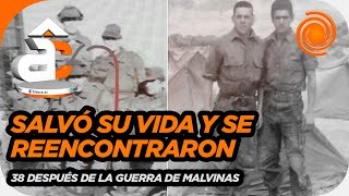 Emotivo.Le salvó la vida durante la Guerra de Malvinas, lo buscó y se reencontraron 38 años después.