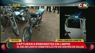 Capturan a robamotos en Limpio