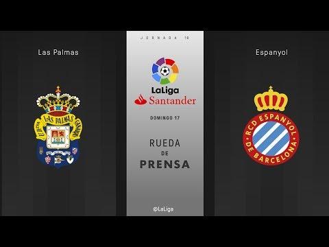 Rueda de prensa Las Palmas vs Espanyol