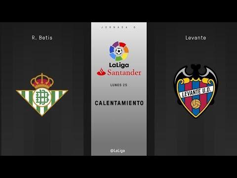 Calentamiento R. Betis vs Levante