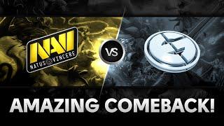 Amazing comeback by Na`Vi vs EG @ XMG Captains Draft Season 2
