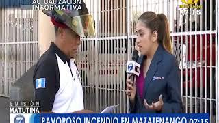 Cortocircuito provocó pavoroso incendio en Mazatenango