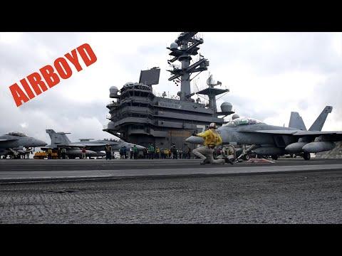 connectYoutube - Carrier Air Wing Five Fly-Off USS Ronald Reagan (CVN-76)