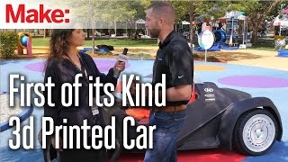 Jay Rogers with a First of its Kind 3d Printed Car