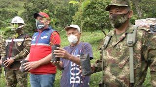 El Ejército Nacional sembrará 4 mil árboles nativos en Quetame- Cundinamarca.
