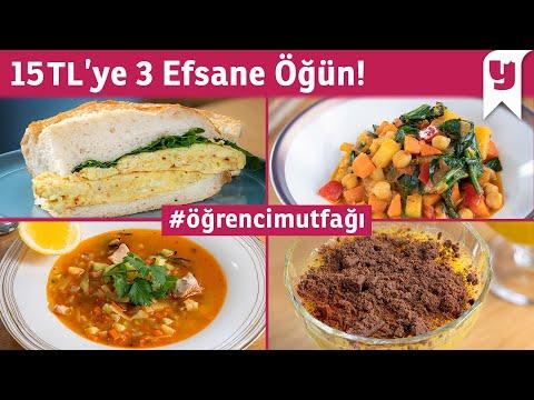 Öğrenciler için Yemeğe Günlük 15 TL'den Az Harcatacak 6 Tarif (3 Nefis Öğün!)