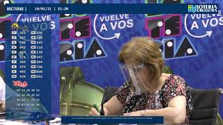 Emisión en directo de Loteria Uruguaya