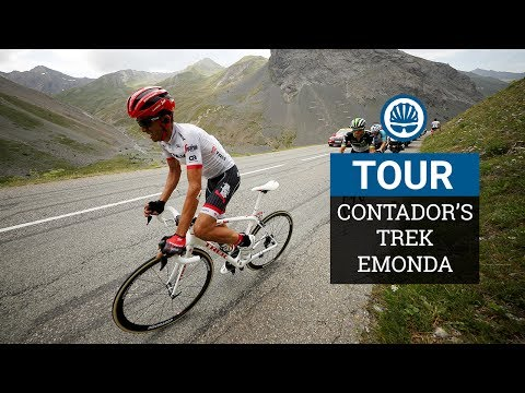 Contador's Trek Emonda - 640g Frame & Old-Fashioned Braking