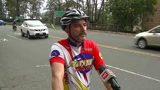 Menos ciclistas fueron multados este sábado por la Policía de Tránsito