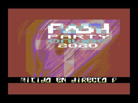 Flashparty 2020 Commodore 64 Invitación en español